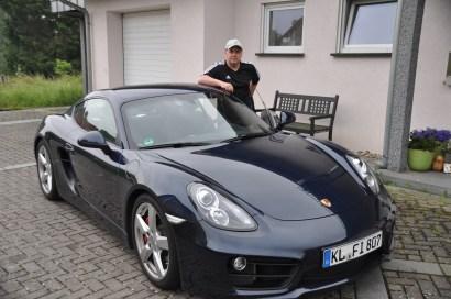 AJ and his Porsche
