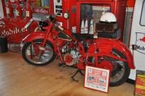 old Moto Guzzi in museum