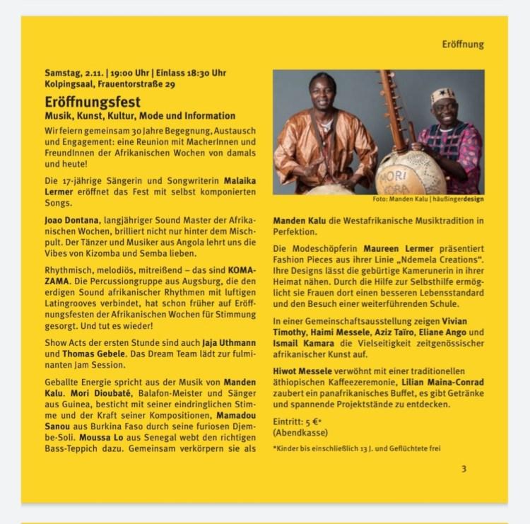 GRUPPEN AUSSTELUNG: Haimi Art stellt Ihre Kunstwerke mit Ihre Afrikanische Künstler Kolleginnen und Kollegen am Eröffnungstag der Afrikanische Wochen Samstag, den 02.11.2019 ab19 Uhr in Kolpngsaal, Frauntorstraße