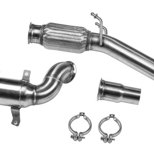 LEYO Motorsport High Flow Catted Racing Downpipe MK7 GTI
