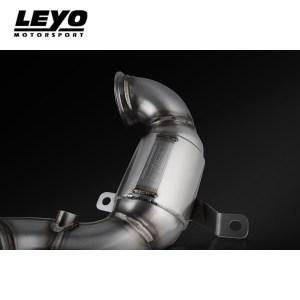 LEYO Motorsport High Flow DE-CAT Racing Downpipe MK7 GTI