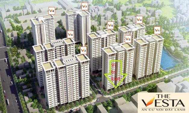 Bán kiot căn góc 2 mặt tiền đẹp nhất dự án The Vesta Phú Lãm (Suất ngoại giao)