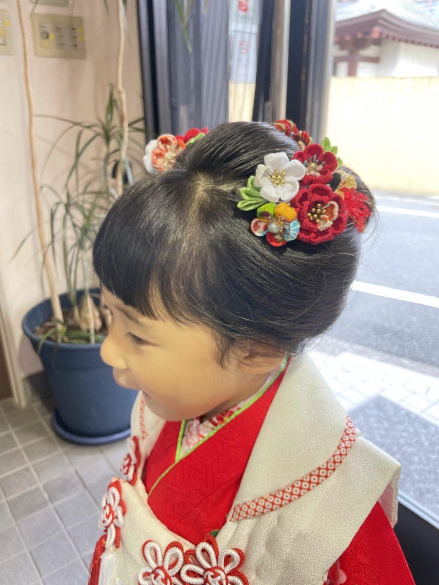 三歳の新日本髪 七五三