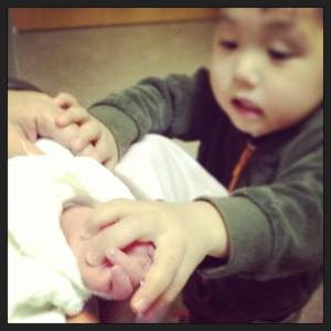 保育園では赤ちゃん産まれたのーって喜んでたらしい