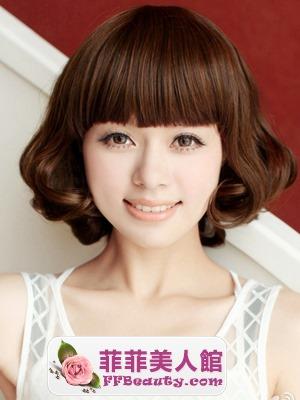 各式圓臉短髮髮型圖片 - 美髮館
