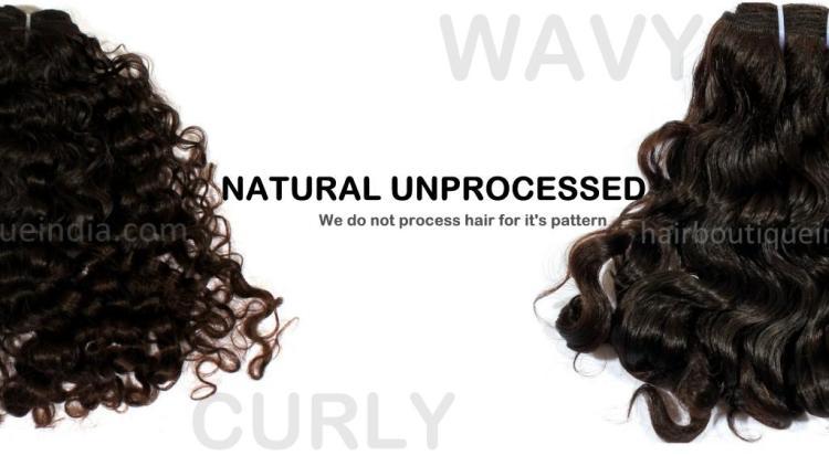 Raw hair weaves