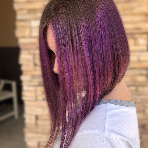 Inverted-Long-Bob Popular Short Messy Hairstyles