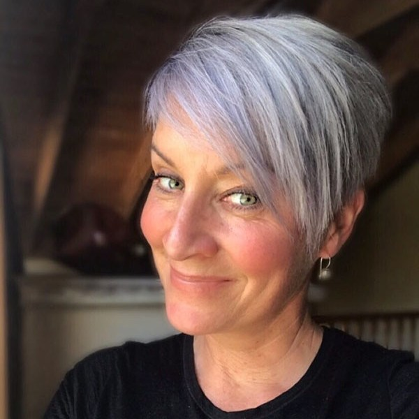 Long-Layered-Pixie Latest Trendy Short Haircuts 2019