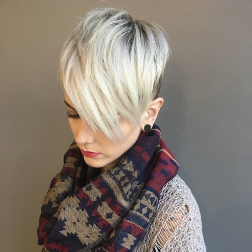 Pixie-Cut-with-Long-Bangs New Best Pixie Cut Ideas for 2019