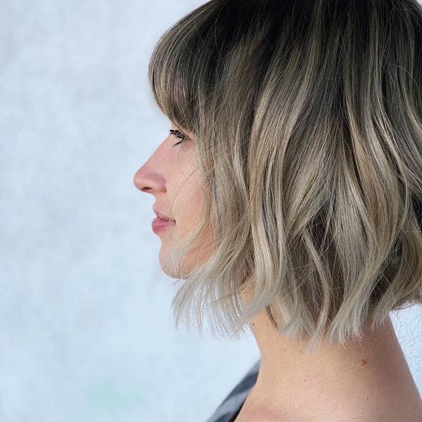 Short-Bangs Latest Trendy Short Haircuts 2019