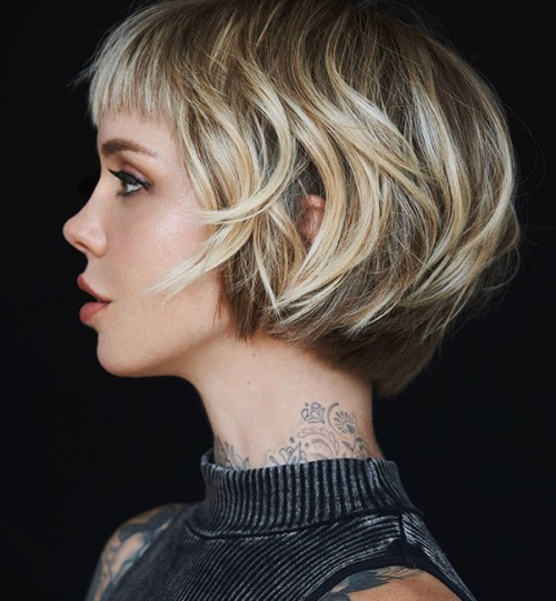 Short-Bob-with-Bangs Really Cute Short Hairstyles You will Love