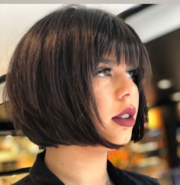 Short-Haircut-with-Bangs New Best Short Haircuts 2019