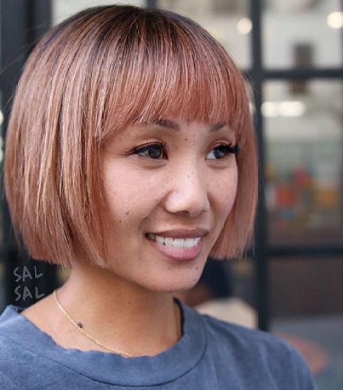 Rose-Gold New Short Haircut Trends Women
