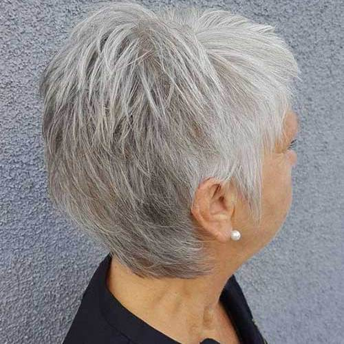 White-Grey-Pixie These Days Most Popular Short Grey Hair Ideas