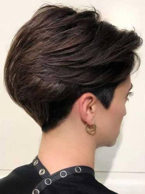 Back-View Popular Short Layered Hair