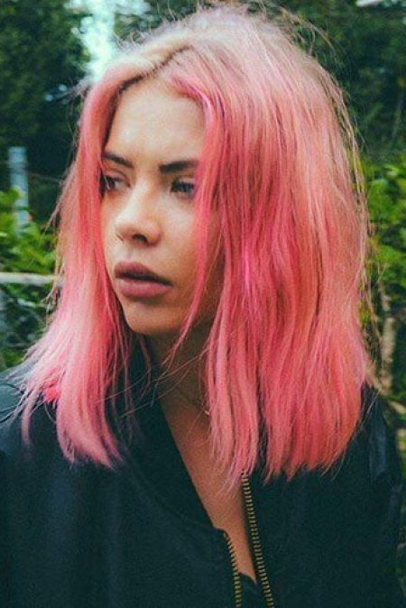 Pink-Short-Hair Short Cuts with Color