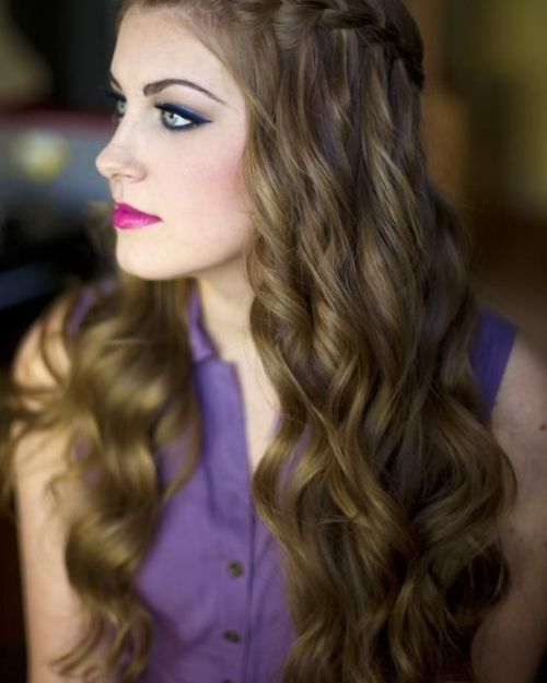 Waterfall-Braid-Hair Ideas to Style Wedding Hairstyles for Fall