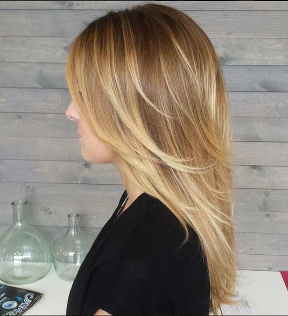 Blonde Ombre Hair Colar And Cut Style