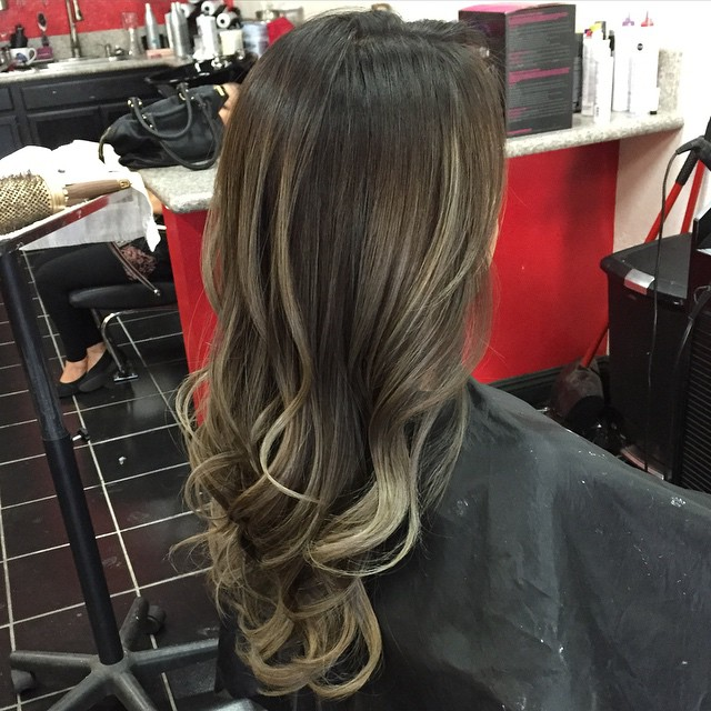 Dark Brown Blonde Ombre Hair Hair Colar And Cut Style