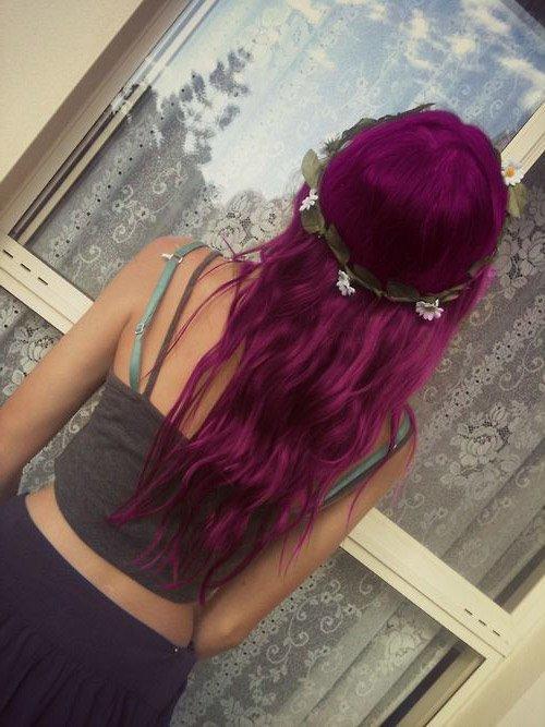 Manic Panic Fuschia Shock Hair Colar And Cut Style