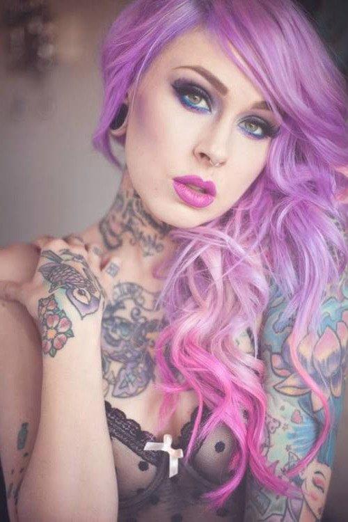 Manic Panic Mystic Heather Hair Colar And Cut Style