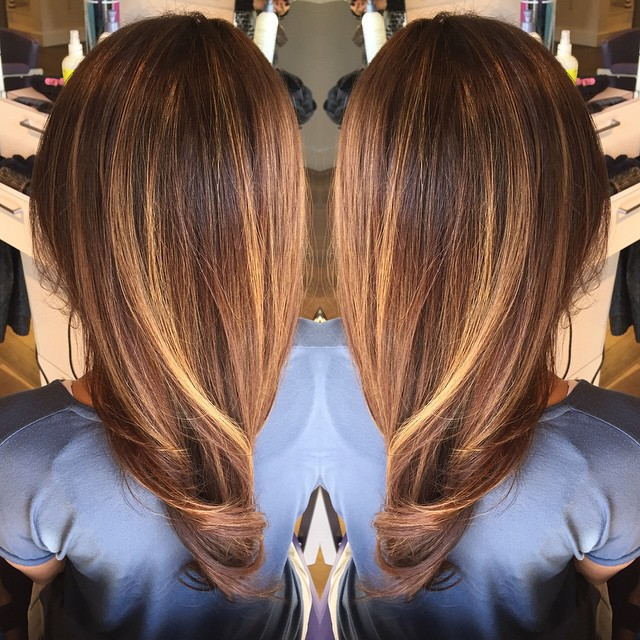 Brown Hair With Caramel Ombre