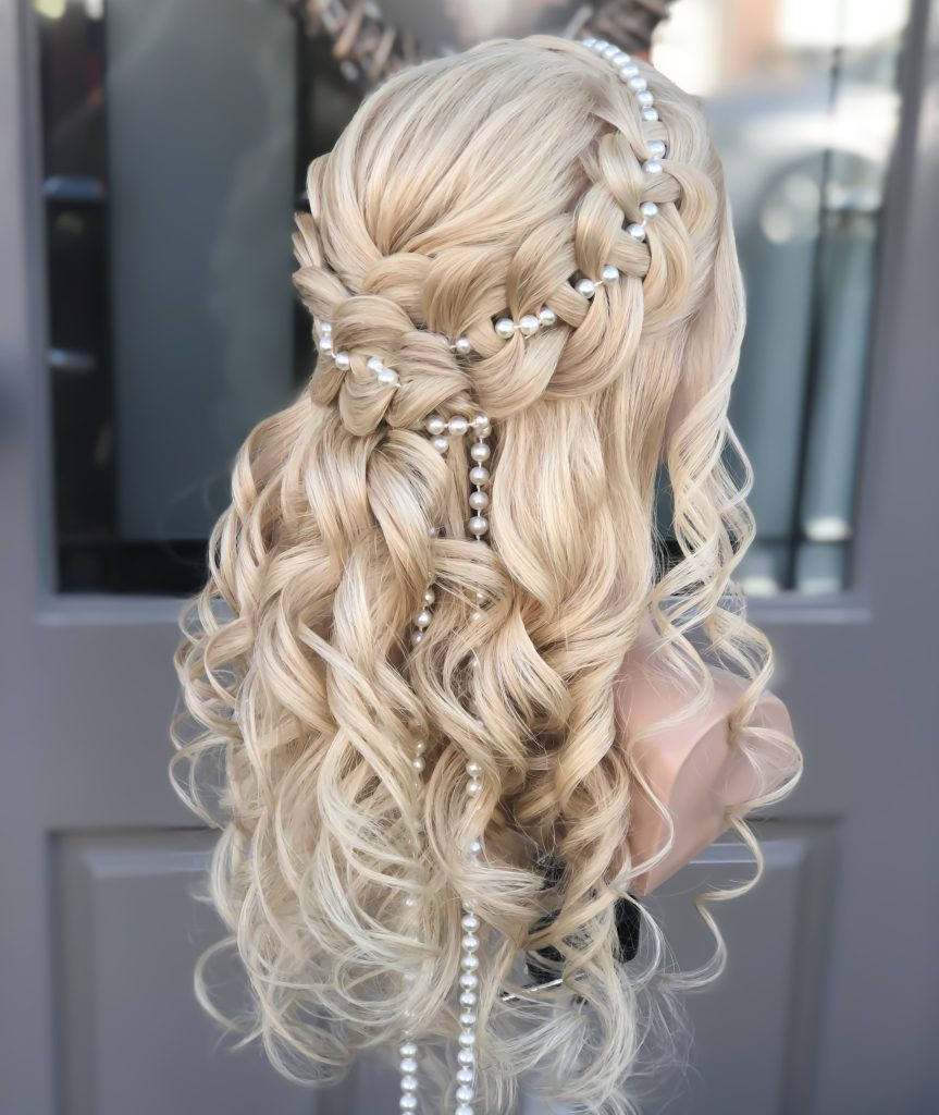 4-strand braid with pearls