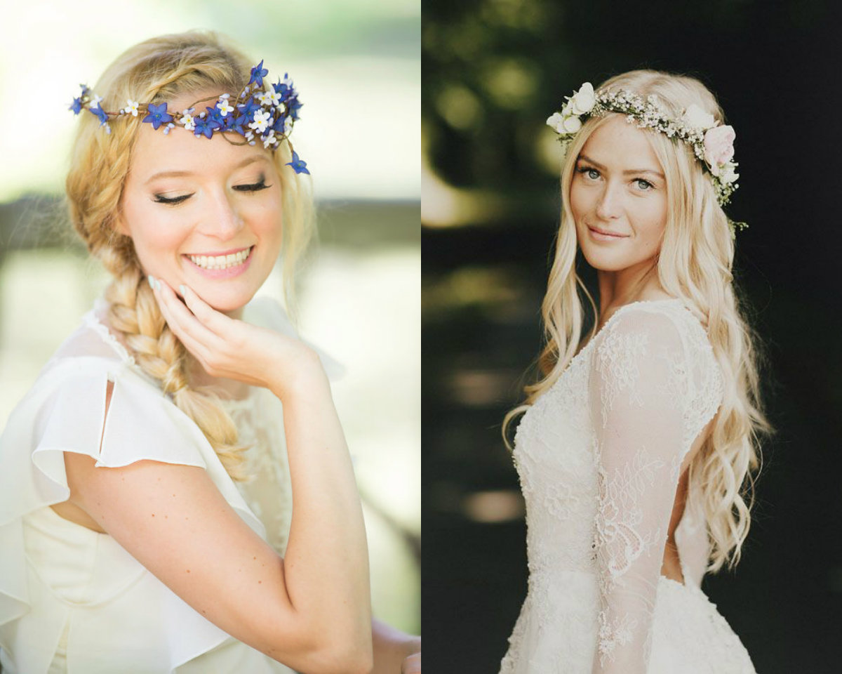 Flower Crown Wedding Hairstyles To Marry This Summer