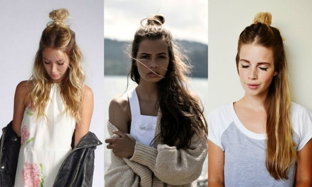 half up top knots hairstyles for everyday non-casual looks