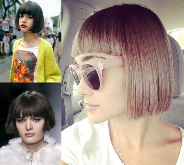 classy blunt bob hairstyles with bangs | hairdrome