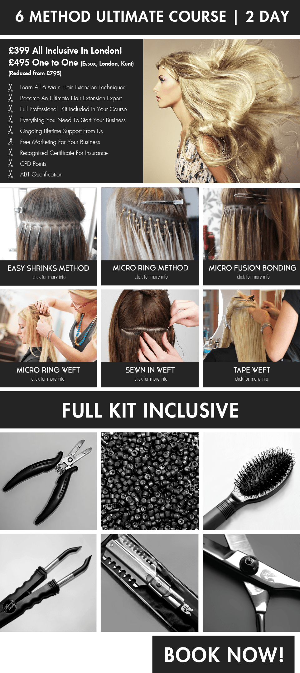7 Method Hair Extension Course Belle Academy