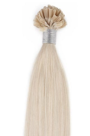 18 22 100grams 100strands U Tip Nail Fusion Keratin Pre Bonded Remy Human Hair Extensions 60 White Blonde Slightly Golden