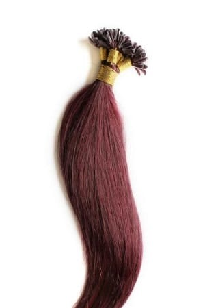 18 22 100grams 100strands U Tip Nail Fusion Keratin Pre Bonded Remy Human Hair Extensions 99j Burgundy Red Wine
