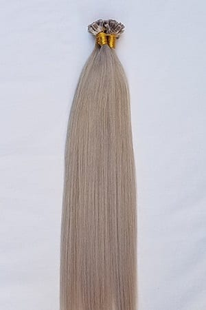 18 22 100grams 100strands U Tip Nail Fusion Keratin Pre Bonded Remy Human Hair Extensions Light Ash Blonde Without Gold Or Silver Tint
