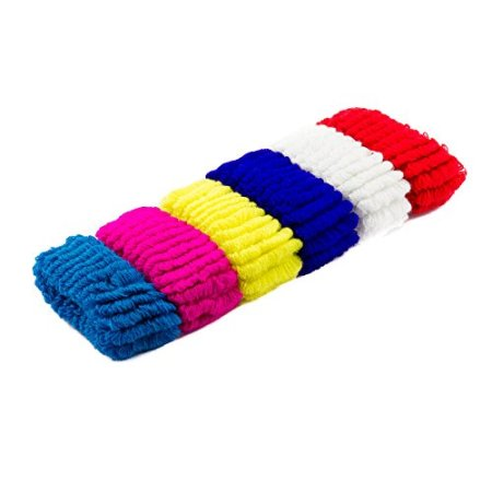D12AST Soft Thick Coloured Hairbands Pack of 12