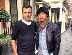 Calvin with Director of Vidal Sassoon