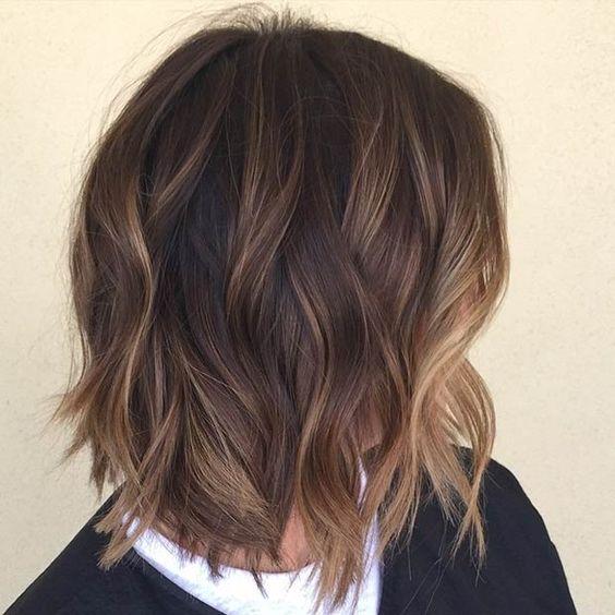 Honey Highlights Dark Brown Hair