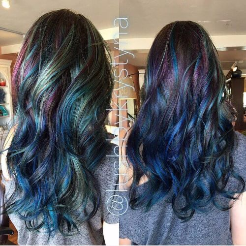 rainbow hair balayage Balayage On Black Hair