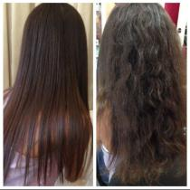 hair-straightening-before and after