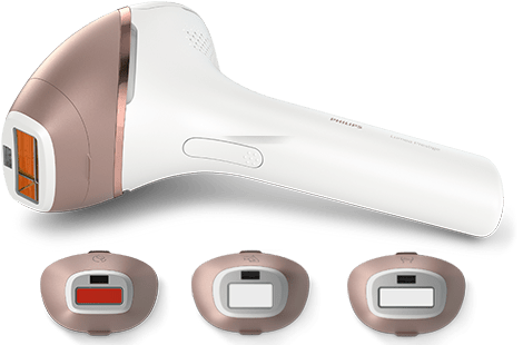 philips lumea prestige ipl hair removal device - 4 attachments