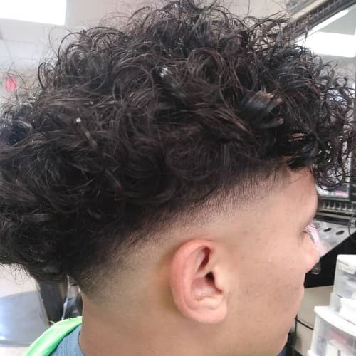 FAUXHAWK FOR CURLY HAIR