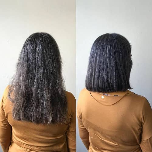 Back View Shoulder Length Layered Haircuts For Thick Hair 31