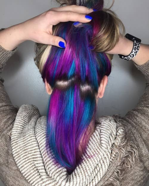 Wine + Purple and Blue Hidden-Under