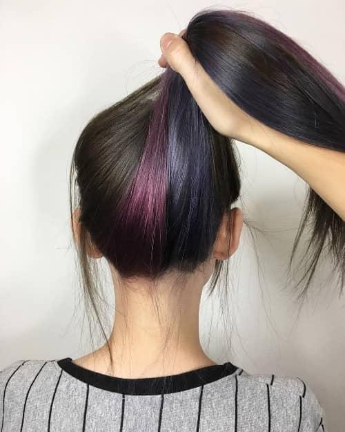 Wine Red + Unpredictable Light Purple Underneath