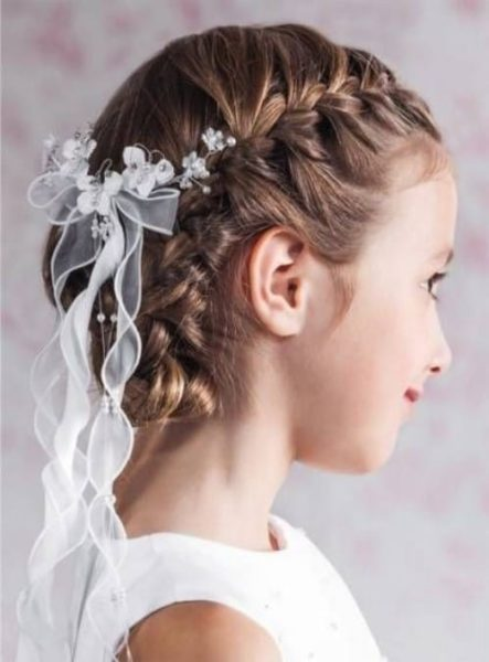 Crown French Braid Hairstyle For Kids