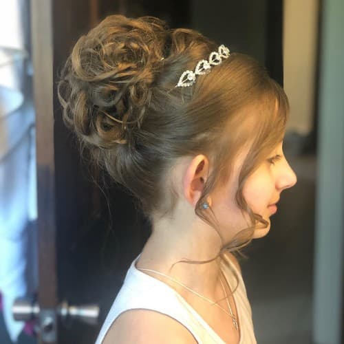 Communion Prom Updo Hairstyle For Kids