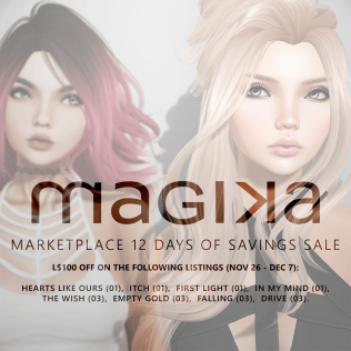 Magika - Marketplace 12 Days of Saving Sale
