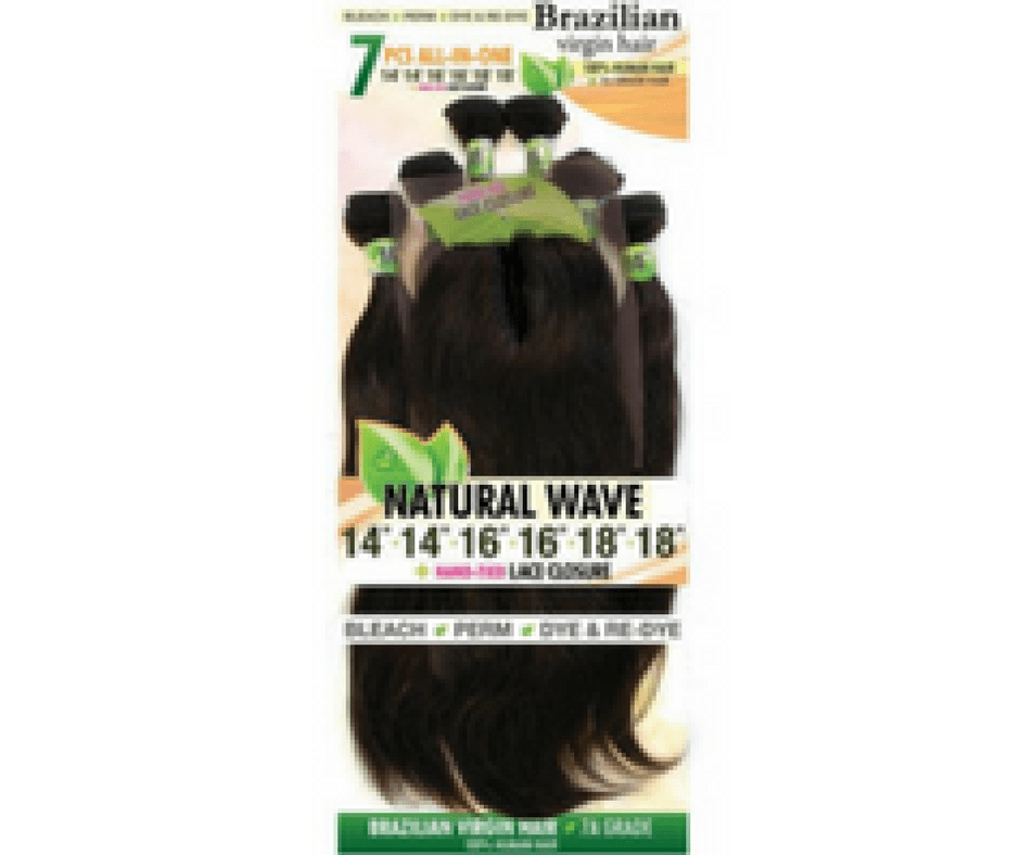 Urban Beauty Natural Wave Brazilian Virgin Hair 7 Pc