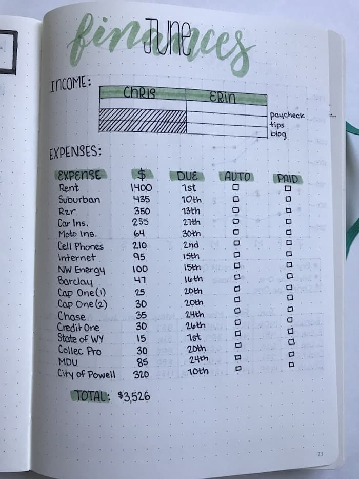 Free Pages Planner Budget Printable