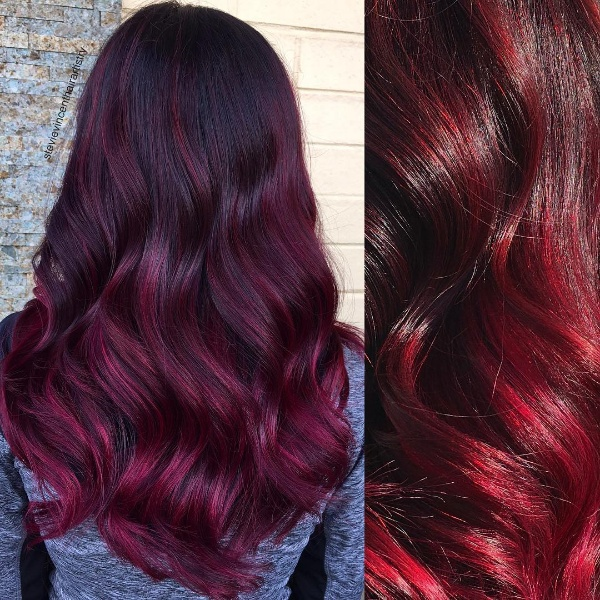 25 Red And Black OmbreHighlights Hair Color Ideas April